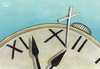 Cartoon: Time-1 (small) by vladan tagged time,clock,cross