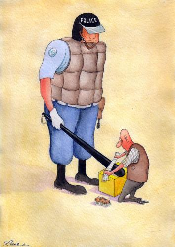 Cartoon: seyran caferli (medium) by caferli tagged police