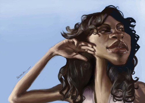Cartoon: Rosario Dawson (medium) by jonesmac2006 tagged rosario,dawson,caricature