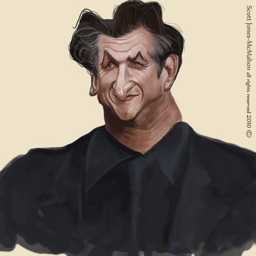 Cartoon: Sean Penn (medium) by jonesmac2006 tagged sean,penn,caricature,cartoon,cartoons