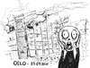 Cartoon: Oslo 23.07.2011 (small) by csamcram tagged oslo,strage,csam,cram,munch,scream
