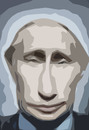 Cartoon: putin (small) by muharrem akten tagged putin,rusya,devlet,baskani,prezident,cartoon,humor,karikatur,portre,portrait