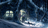 Cartoon: last winter (small) by nootoon tagged forest,gump,night,winter,snow,illustration,digital,nootoon,germany