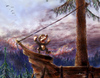 Cartoon: pirates of thuringia II (small) by nootoon tagged pirates,fire,woods,nootoon,illustration,germany,thuringia,thüringen
