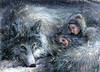 Cartoon: wolf sisters 2 (small) by nootoon tagged wolf,sisters,nootoon,illustrator,ilmenau,illustration,new,hyperreal,surreal