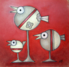 Cartoon: Vogelball (small) by ninaboosart tagged vogelball