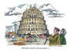 Cartoon: Renten-Babel (small) by mandzel tagged rente,renteneintrittsalter,rentenniveau,rentenreform,altersarmut,bevölkerungsentwicklung,nahles,rentenbeiträge