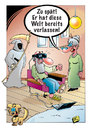Cartoon: Virtual-Reality-Brille (small) by stefanbayer tagged virtual,reality,vr,virtualreality,brille,vrbrille,virtualrealitybrille,tot,tod,sterben,abholen,spät,verlassen,welt,digital,computer,pad,smartphone,flucht,fortschritt,hund,stefan,bayer,stefanbayer,bay