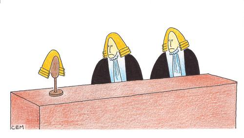 Cartoon: court (medium) by cemkoc tagged karikatürleri,mahkeme,hakim,hukuk,adalet,richter,gesetz,cartoons,legal,jurisdiction,lex,supreme,tribunal,judgement,court,judge,justice,law