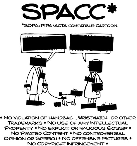 Cartoon: Blackout-SPACC (medium) by Andreas Pfeifle tagged sopa,pipa,acta,internet,blackout,ip,intellectual,property,piracy