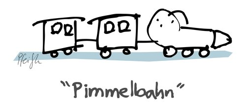 Cartoon: Pimmelbahn (medium) by Andreas Pfeifle tagged pimmel,bahn,pimmelbahn