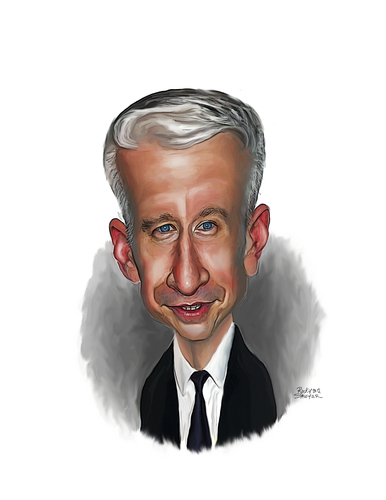 Cartoon: Anderson Cooper (medium) by rocksaw tagged anderson,cooper