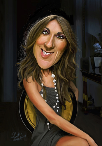Cartoon: Celine Dion (medium) by rocksaw tagged celine