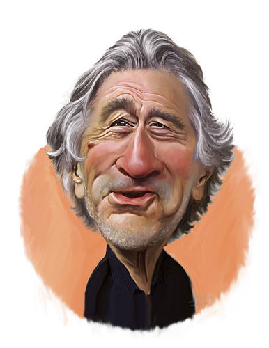 Cartoon: Robert De Niro (medium) by rocksaw tagged caricature,study,robert,de,niro