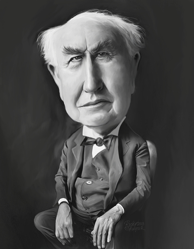 Cartoon: Thomas Edison (medium) by rocksaw tagged thomas,edison