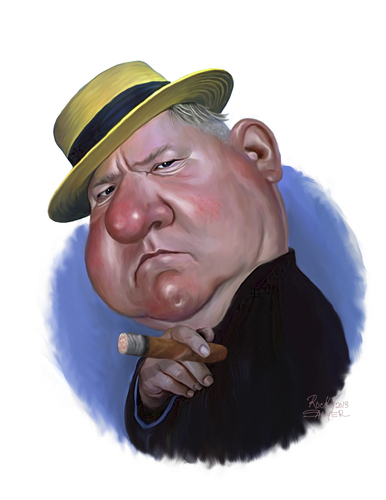 Cartoon: W.C. Fields (medium) by rocksaw tagged wc,fields