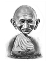 Cartoon: Mahatma Gandhi (small) by rocksaw tagged caricature,study,mahatma,gandhi