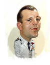 Cartoon: Yuri Alekseyevich Gagarin (small) by rocksaw tagged caricature,study,yuri,gagarin