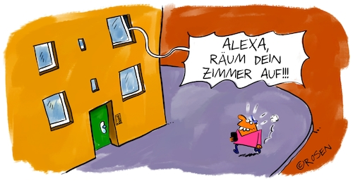 Cartoon: Alexa (medium) by Holga Rosen tagged alexa,vorname,alexa,vorname