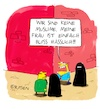Cartoon: Keine Muslime (small) by Holga tagged burka