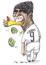 Cartoon: l.suarez (small) by Tchavdar tagged suarez,bite,cannibal,football,chiellini,dracula,uruguay