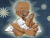 Cartoon: Mahatma Gandhi (small) by cosmicomix tagged mahatma,gandhi,guru,india,master,peace