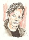 Cartoon: Judi Dench as M (small) by ade tagged bond,dench