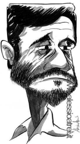 Cartoon: Ahmadinejad (medium) by Atride tagged iran,ahmadinejad,