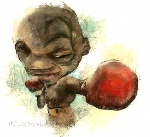 Cartoon: MIKE TYSON (medium) by allan mcdonald tagged box