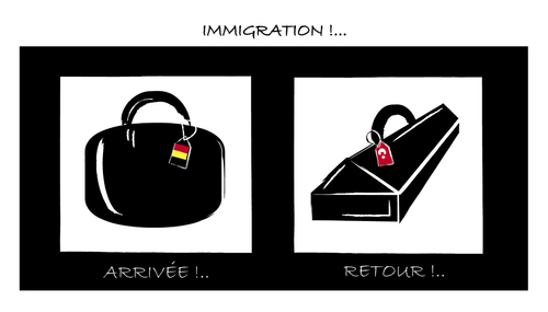 Cartoon: IMMIGRATION !.. (medium) by ismail dogan tagged immigration