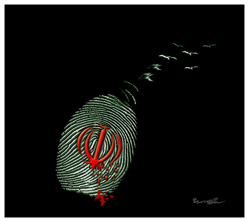 Cartoon: IRANIAN RESISTANCE!... (medium) by ismail dogan tagged iranian,resistance