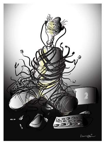 Cartoon: PRISONER !... (medium) by ismail dogan tagged cables
