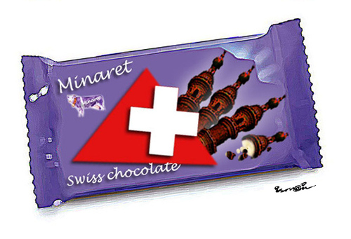 Cartoon: SWISS CHOCOLATE! (medium) by ismail dogan tagged swiss,chocolate