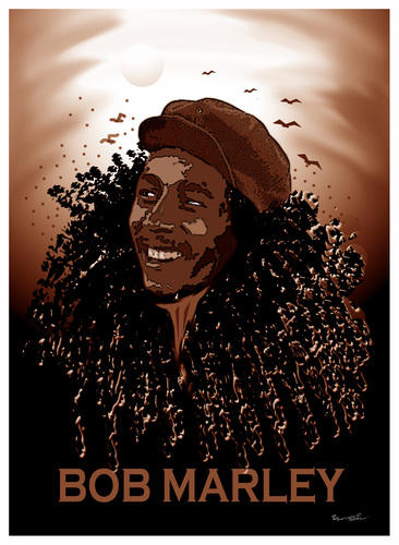 Cartoon: TRIBUTE TO BOB MARLEY !.. (medium) by ismail dogan tagged bob,marley