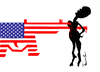 Cartoon: Black man in USA (small) by ismail dogan tagged usa
