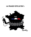 Cartoon: FRANCE ELECTIONS ! (small) by ismail dogan tagged france,elections,2015