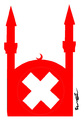 Cartoon: MINARETS  IN  SWITZERLAND (small) by ismail dogan tagged minarets,in,switzerland