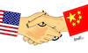 Cartoon: US CHINA RELATIONS (small) by ismail dogan tagged usa,china