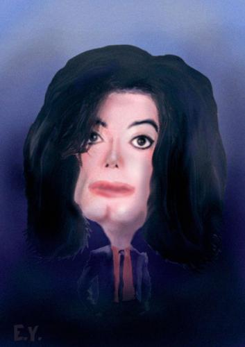 Cartoon: michael jackson (medium) by emre yilmaz tagged michael,jackson,artist