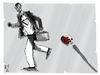 Cartoon: running (small) by emre yilmaz tagged running,capitalism,love
