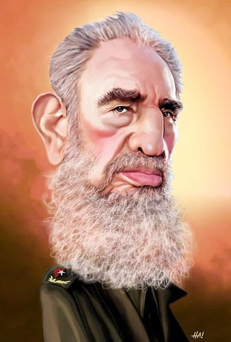 Cartoon: fidel castro (medium) by Halil I YILDIRIM tagged fidel,castro,cuba