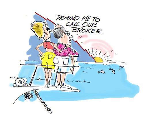 Cartoon: boating (medium) by barbeefish tagged finance,