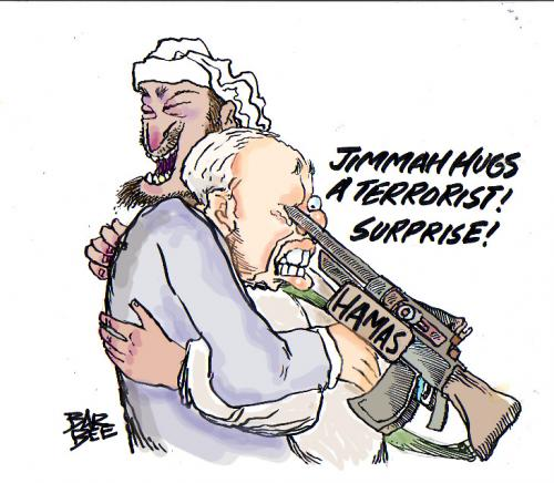 Cartoon: carter and hamas (medium) by barbeefish tagged carter,