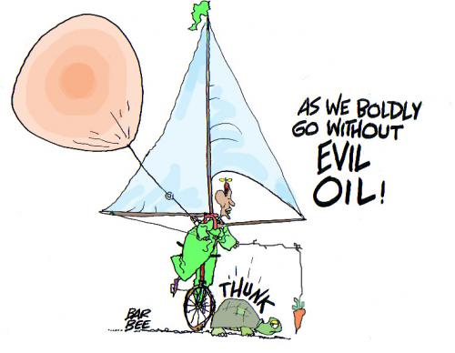 Cartoon: evil oil (medium) by barbeefish tagged obama