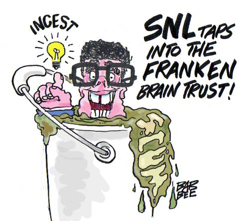Cartoon: FAR LEFT (medium) by barbeefish tagged al,franken