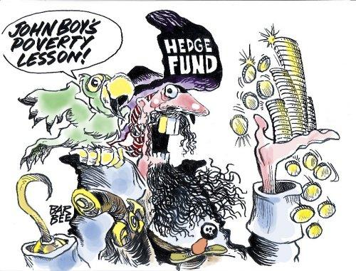 Cartoon: hedge fund (medium) by barbeefish tagged john,boy,
