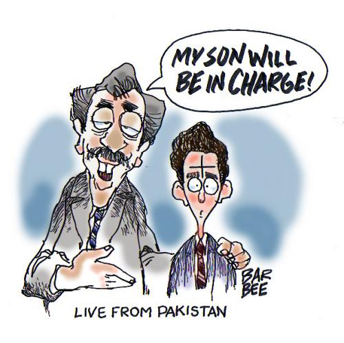 Cartoon: pakistan (medium) by barbeefish tagged the,son,