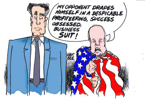 Cartoon: political (medium) by barbeefish tagged romney,and,mcc,