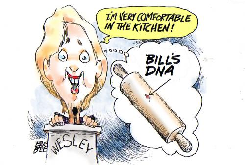 Cartoon: political (medium) by barbeefish tagged bills,dna,