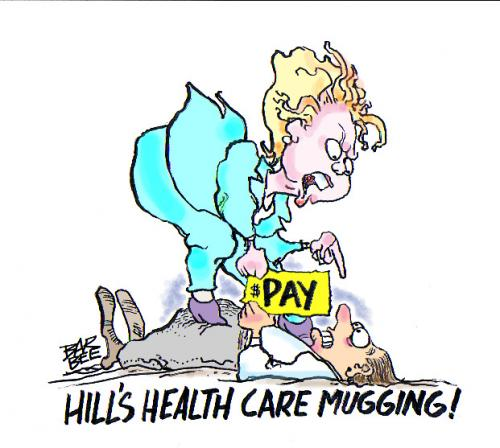 Cartoon: poliyical (medium) by barbeefish tagged health,care,